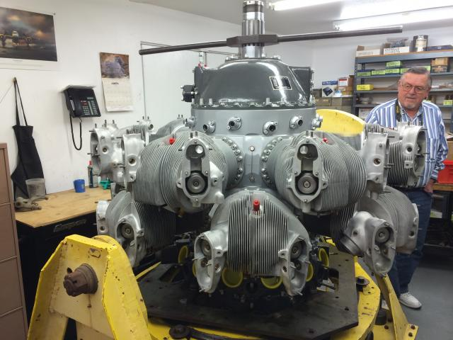 The left engine, overhauled on site and ready for installation. - Aug.2014 - Dan Newcomb photo