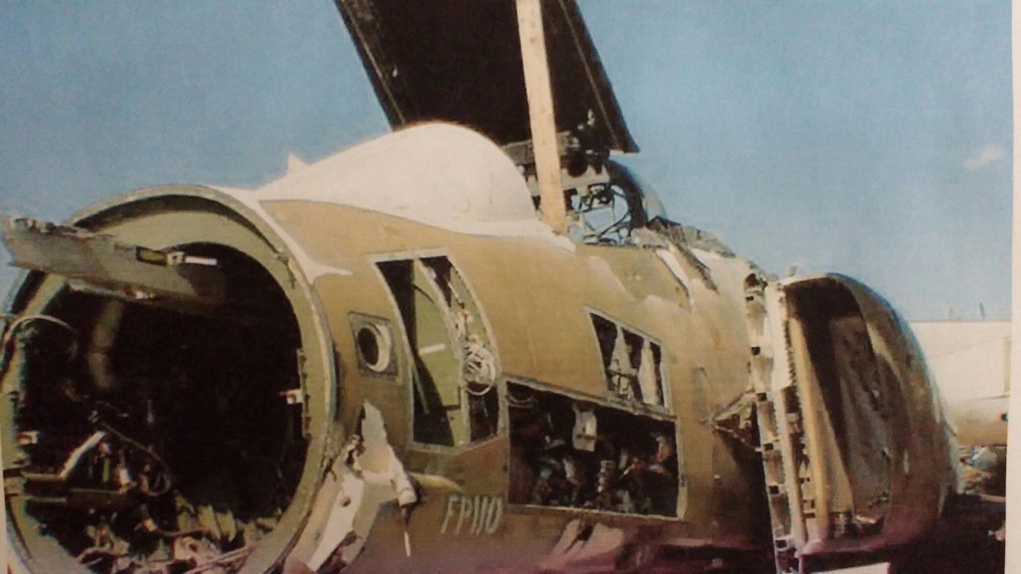 David Garbe's F-4D Phantom II cockpit as it looked when he acquired it in 2006. (photo via David Garbe)