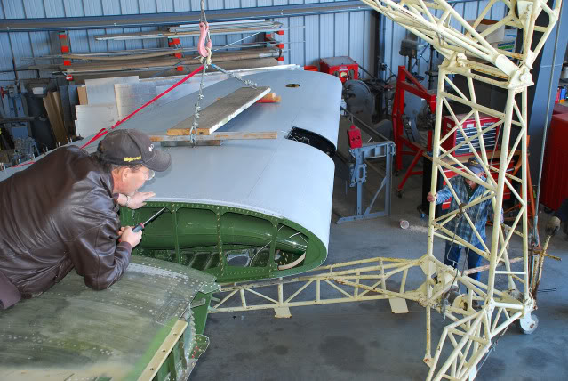 Final attachment for the left hand outer wing panel on the aeroplane - Mar.2012 - Dan Newcomb photo