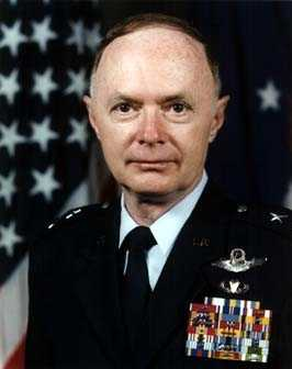 The general entered the Air Force in 1962 as a graduate of the U.S. Air Force Academy. He has commanded a test squadron and a tactical training wing, and served as chief of the joint operations division, J-3, Organization of the Joint Chiefs of Staff. Before assuming his current position, the general commanded the U.S. Air Force Air Warfare Center, Eglin Air Force Base, Fla. He is a command pilot, having flown more than 4,900 hours in a variety of tactical aircraft. More than 500 of those hours were flown in combat over Southeast and Southwest Asia.