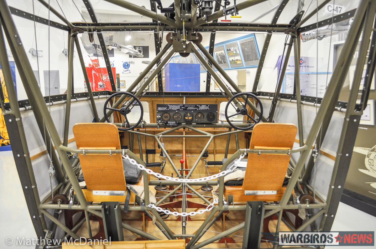 A view inside the Waco CG-4A nose/cockpit section on display at the Atterbury-Bakalar Air Museum, Columbus, IN. (Photo by Matthew McDaniel)