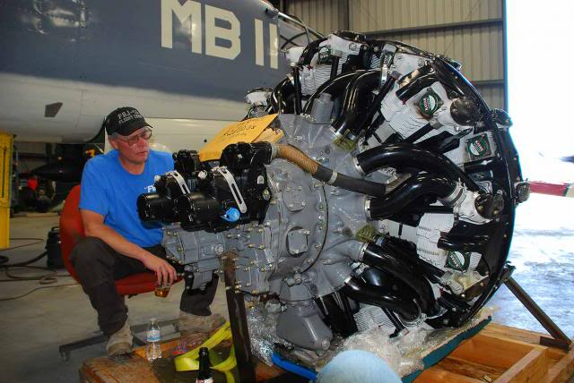 The zero-timed starboard engine awaiting installation. - May 2013 - Dan Newcomb photo