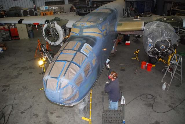 Repainting the PBJ in VMB-611 markings - Jun.2012 - Dan Newcomb photo