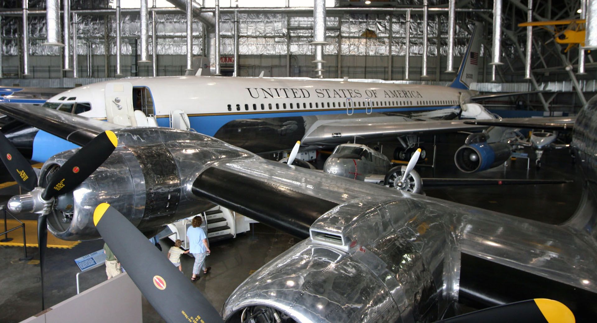 Boeing VC-137C SAM 26000 (Air Force One) in the Presidential Gallery at the National Museum of the United States Air Force. (Photo courtesy of Craig Scaling, Airshow Traveler)