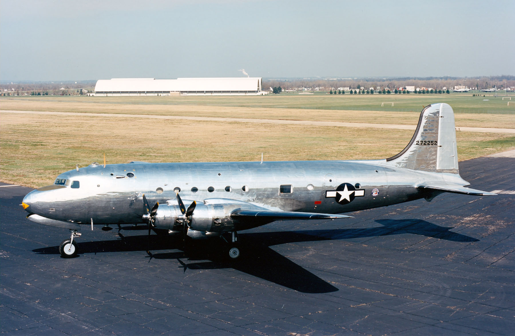 "Douglas VC-54C ""Sacred Cow"" at the National Museum of the United States Air Force. (U.S. Air Force photo)"