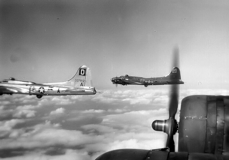B-17s of the 351st Bombardment Squadron, 100th Bombardment Group