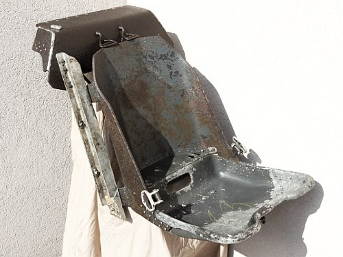 An original Fw-190 seat.  (photo via Andor Burnáczki)