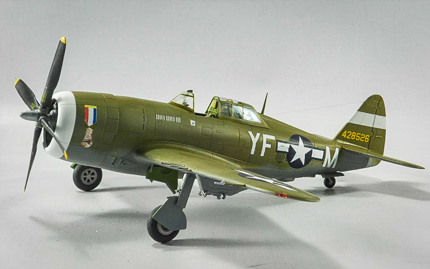 A replica of the Golden Glove P-47 Thunderbolt piloted by Capt. Carl Ekstrom was created by Frank Cronin for Victoria Thomson in memory of her father. Ekstrom was shot down over France following a bomber escort mission. (Courtesy photo)