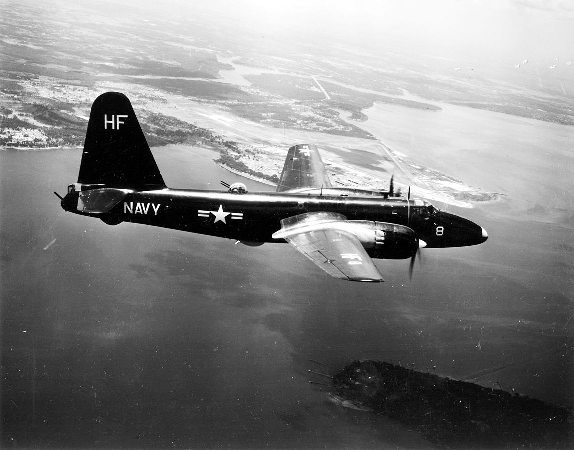 A Lockheed P2V-2 Neptune of patrol squadron VP-18 Flying Phantoms in flight over NAS Jacksonville (Florida, USA) on 3 July 1953. VP-18 had only been established on 04 Feb 1953. It was already disestablished on 10 Oct 1968.