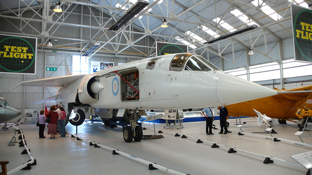One of the two surviving TSR2 strategic attack aircraft prototypes. You will see this magnificent aircraft plus over a hundred others when you visit RAF Museum Cosford during the Food Festival in July. (photo via Wikipedia)