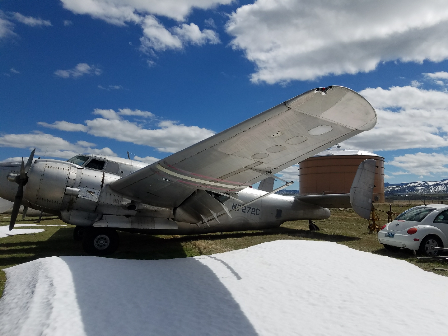Another view of the Vintage Aviation Museum's newly acquired PV-2 Harpoon where she sits awaiting her move to Salt Lake City, Utah. (photo via Vintage Aviation Museum)