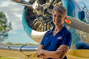 Air Show director and former C-141 pilot Angie Faulise. ( Image credit Rod Reilly)