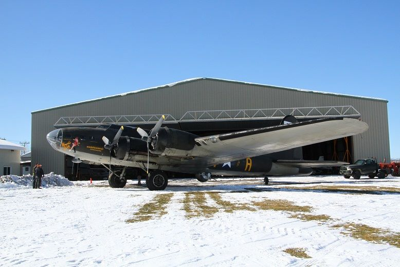 "The late David Tallichet's B-17G Flying Fortress known as ""The Movie Memphis Belle"" is returning home to Geneseo, New York to join the fleet of the National Warplane Museum. (photo via NWM)"