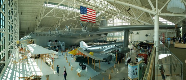90° panorama of the Hughes H-4 Hercules as currently seen in the Evergreen Aviation & Space Museum. Photo by Gregg M. Erickson
