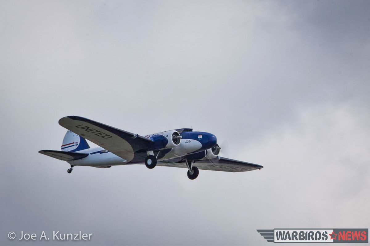 A great close-in shot of the Boeing 247D as she climbs away from Paine Field. (photo by Joe A. Kunzler)