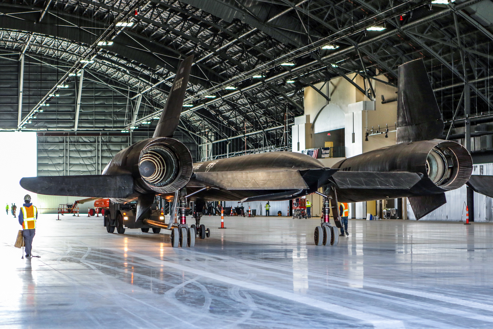 The Lockheed YF-12A safely inside the new fourth building at the National Museum of the U.S. Air Force on Oct. 13, 2015. (U.S. Air Force photo by Don Popp)