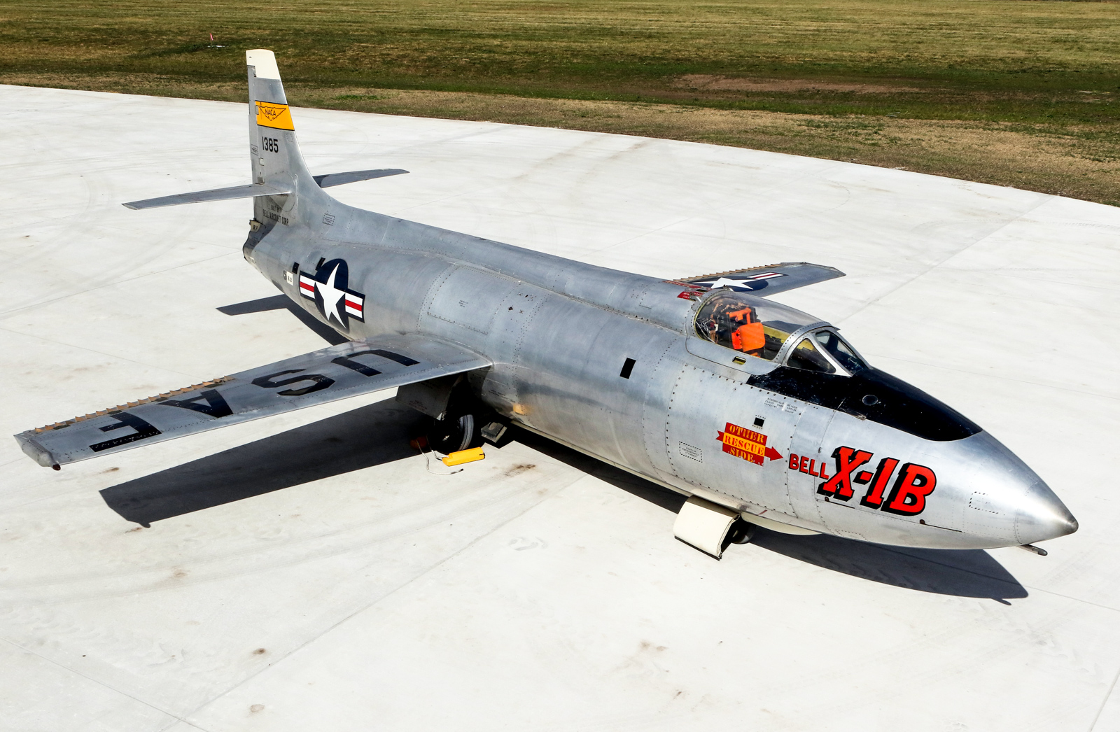 Bell X-1B 48-1385 supersonic research aircraft on October 13th, 2015. (U.S. Air Force photo by Don Popp)