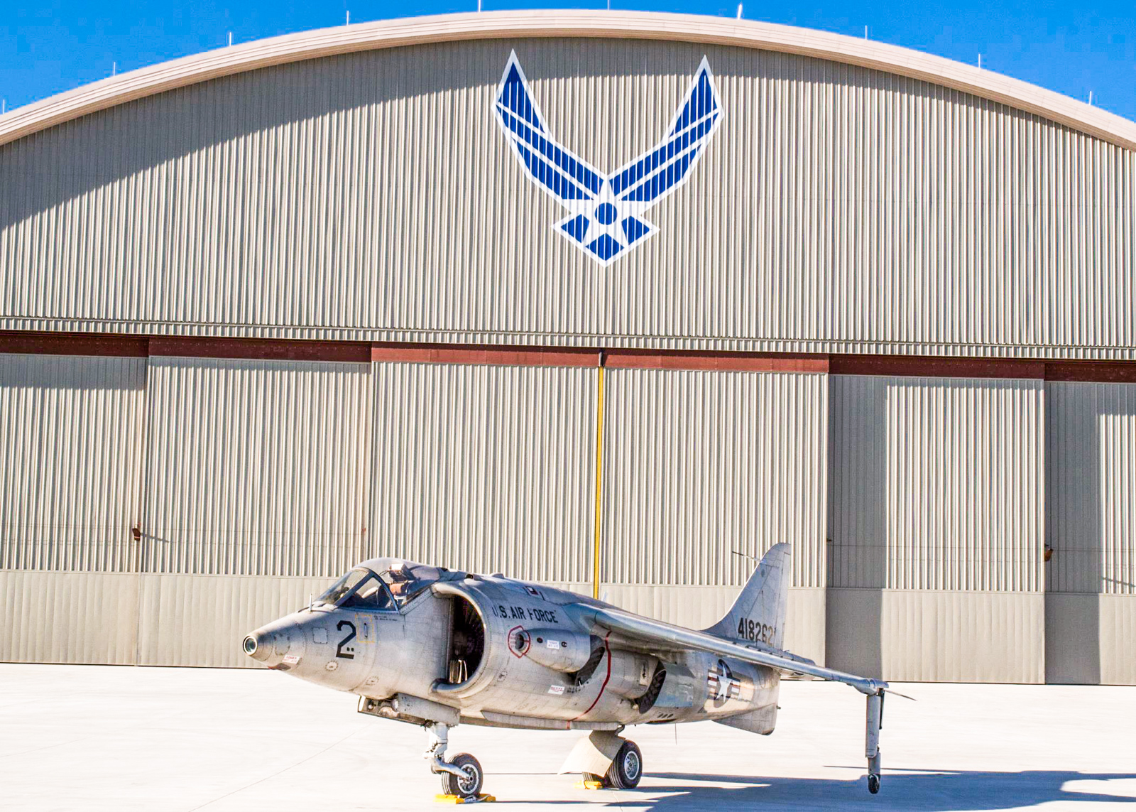 The Hawker Siddeley XV-6A Kestrel at the National Museum of the U.S. Air Force on Oct. 8, 2015. This aircraft was a predecessor to the world-beating AV-8 Harrier jump jet still in service with several military arms around the world. (U.S. Air Force photo by Ken LaRock)