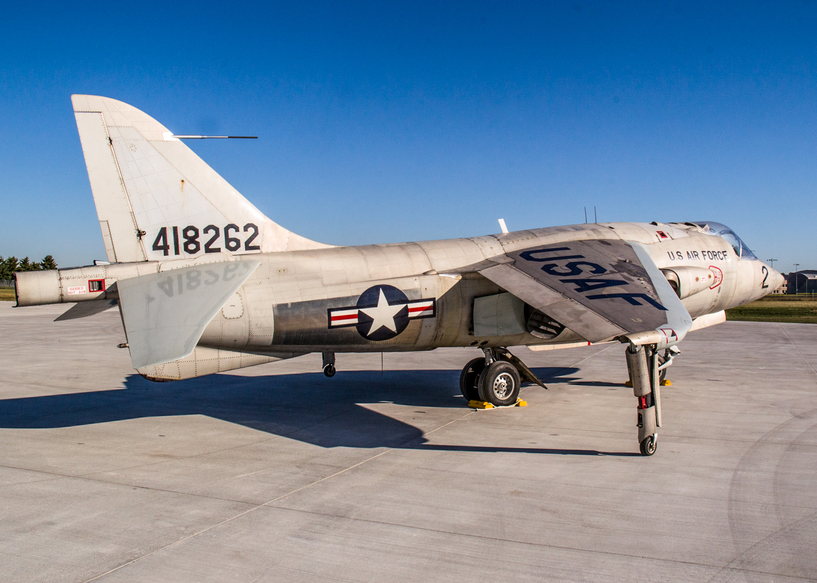 The Hawker Siddeley XV-6A Kestrel at the National Museum of the U.S. Air Force on Oct. 8, 2015. (U.S. Air Force photo by Ken LaRock)