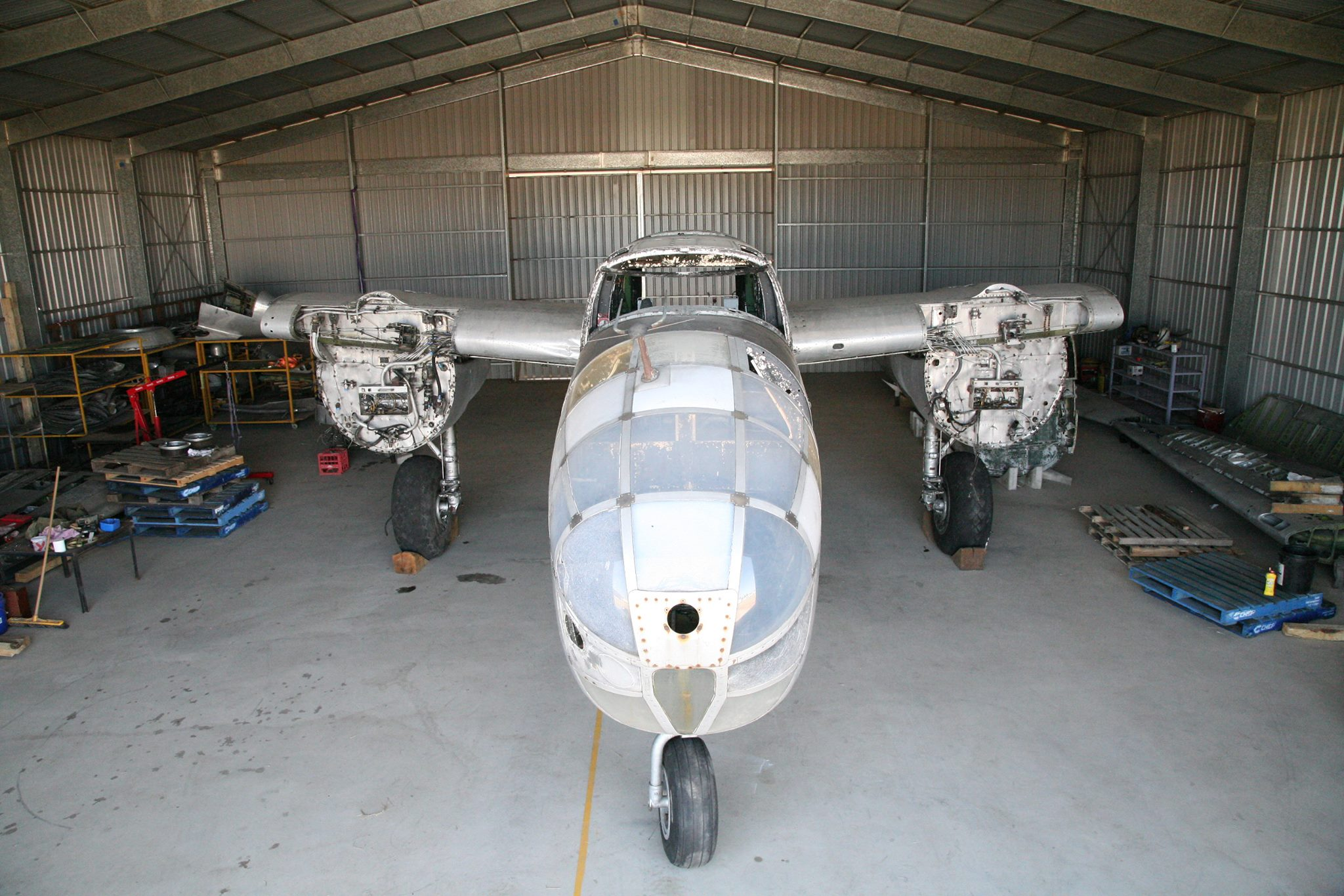 Reevers' B-25J before the real restoration work commenced. (photo via Reevers)