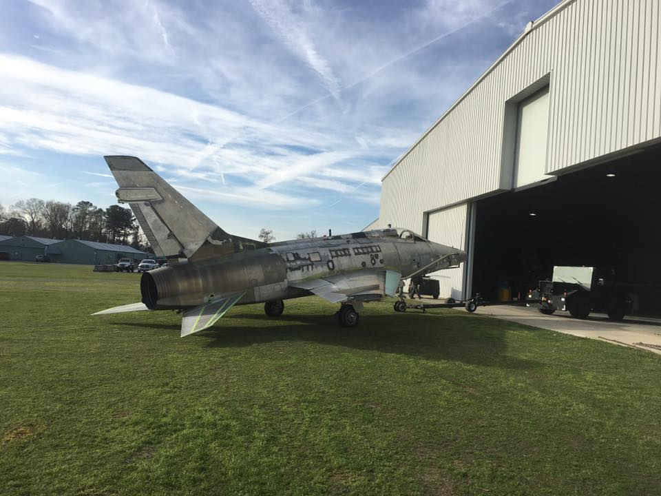 Leaving the workshop for the first time as a more or less fully restored aircraft. (photo by Aaron Robinson)