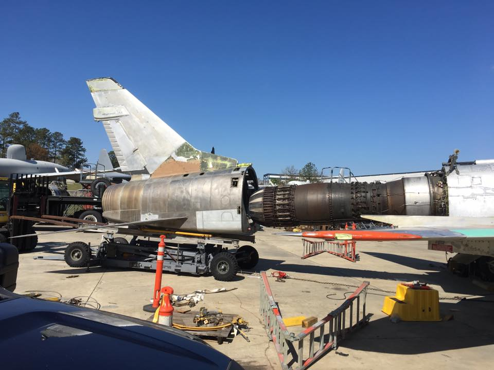 Getting the aircraft ready to paint. (photo by Aaron Robinson)