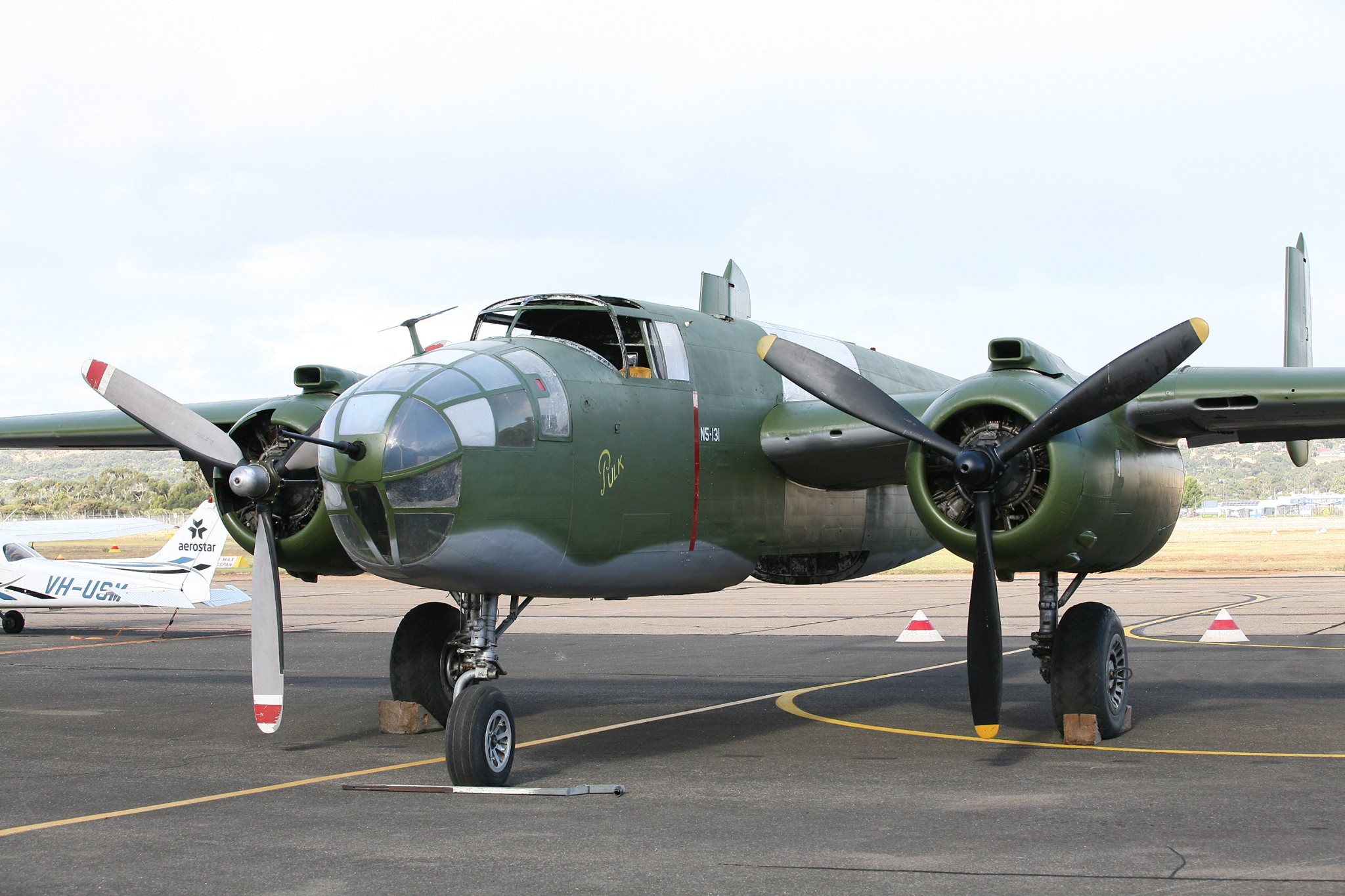 Reevers B-25 at her rollout ceremony in April this year. There is still much work to do, but she has come forwards very quickly from where she once was. (Photo via Reevers)