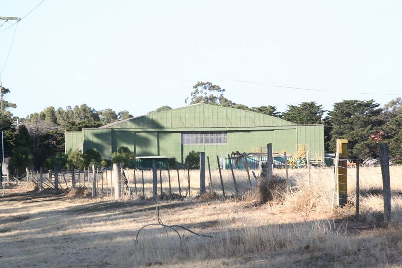 One of the original WWII-era hangars at Werribee. This one is the B-24's current home. (photo via Phil Buckley)