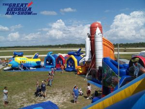 The GGAS KidZone will feature a variety of bouncy houses,aviation-themed inflatables and face painting.