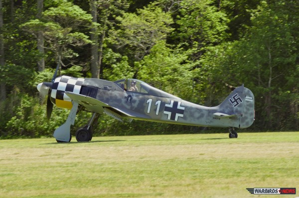 Ray taxiing the Fw-190 at the 2013 Warbirds Over The Beach Air Show at MAM.