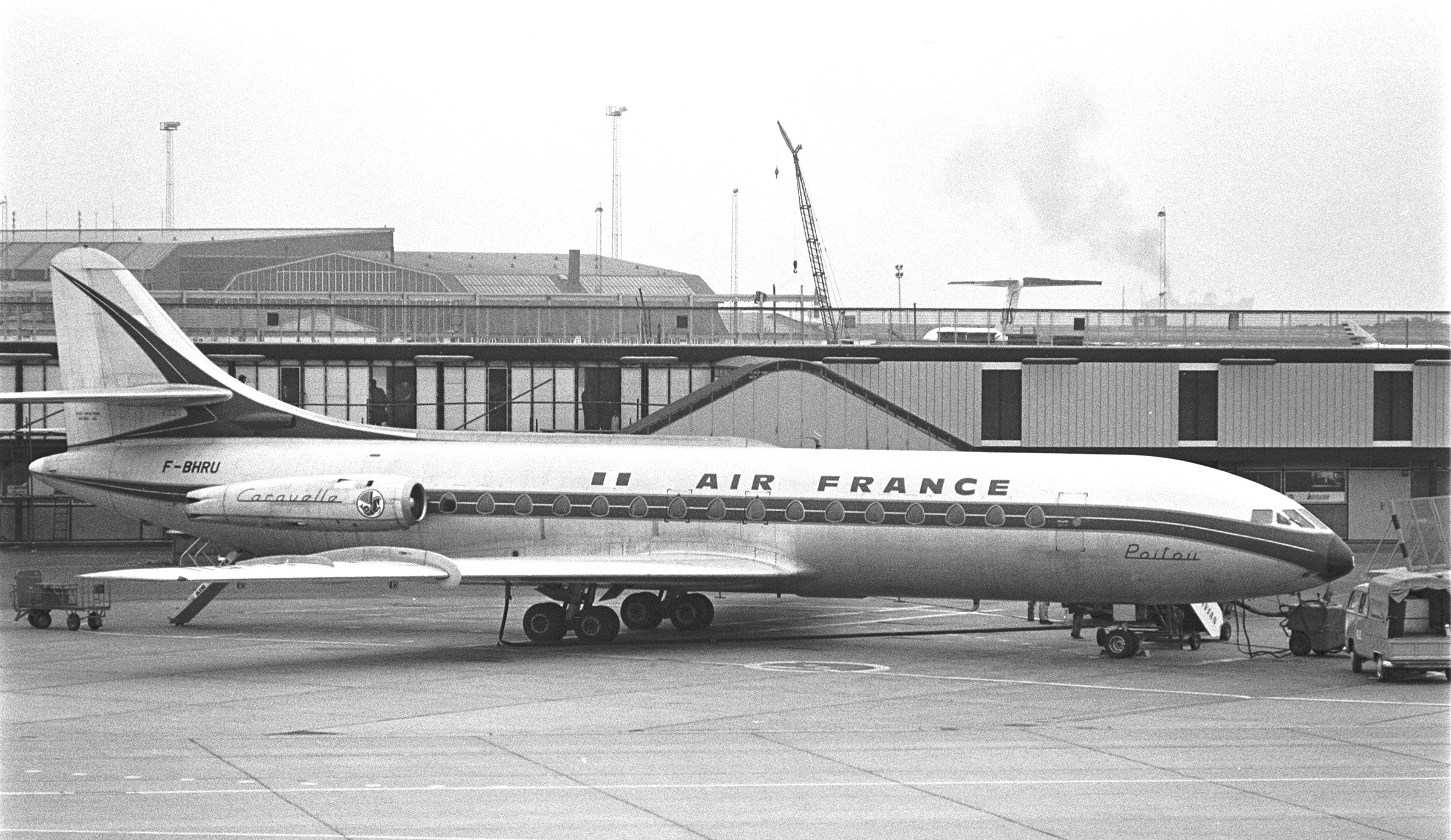 Sud Aviation SE-210 Caravelle F-BHRU, October 27th, 1969 - (photo by Nils Rosengaard via Nils Andersson)