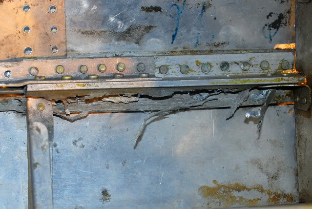 Some of the corrosion found in the left hand outer wing panel - Mar.2011 - Dan Newcomb photo