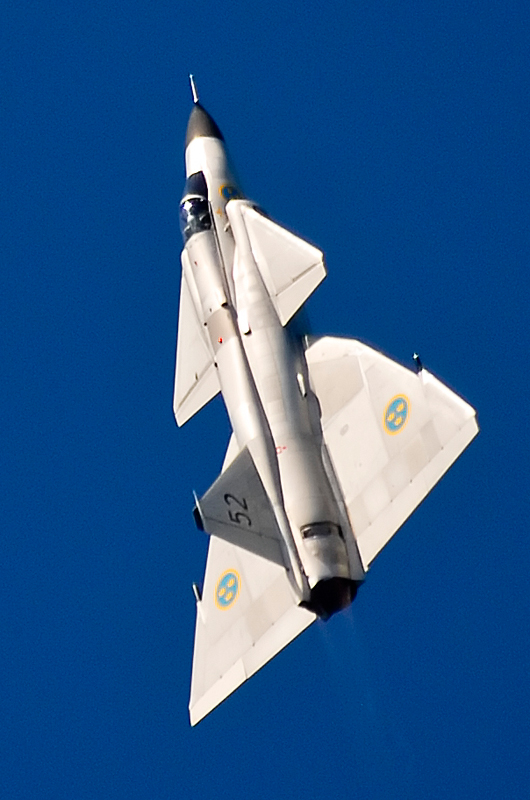 Saab Viggen going up! (Image Credit: Ken Bishop -Jersey International Air Display)