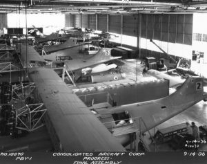 A 1936 picture of the Consolited Aircraft Corporation plant (Image credit: SDSM)