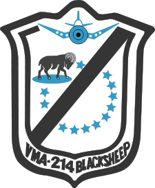 VMA-214 BlackSheep badge