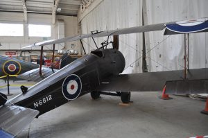 Flown by Flight Sub Lieutenant Stuart Culley on 11 August 1918 when he shot down Zeppelin L 53. Refuges From Lambeth At Duxford. Items moved from IWM London to Duxford for storage in preparation of the transformation of the Lambeth / London Museum. Duxford 17-02-13 ( Image Credit Richard Crockett)