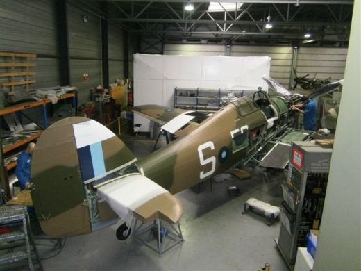 From 2012 this famous Hurricane is wear a new colour scheme, faithfully replicating Hurricane Mk IIC HW840, coded 'EG-S', of 34 Squadron, South East Asia Command during 1944, the personal aircraft of Canadian pilot, Flight Lieutenant Jimmy Whalen DFC.