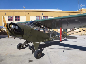 Piper L-4 Grasshopper 12965 (EC-AJY), restored to its original flying condition and livery.