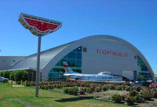 Entrance of the Frontiers of Flight Museum in Dallas,TX