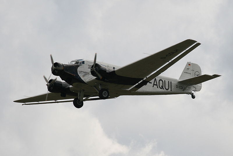 Junkers Ju 52/3m at the 2008 'Flying Legends' air show in Duxford, UK.