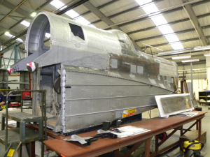 Hampden fuselage coming together at RAFM-Cosford.