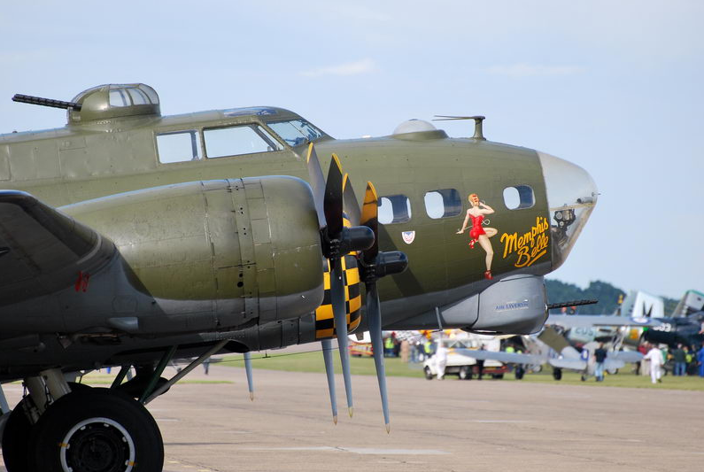 Boeing B-17 Flying Fortress, replica of the world-famous Memphis Belle
