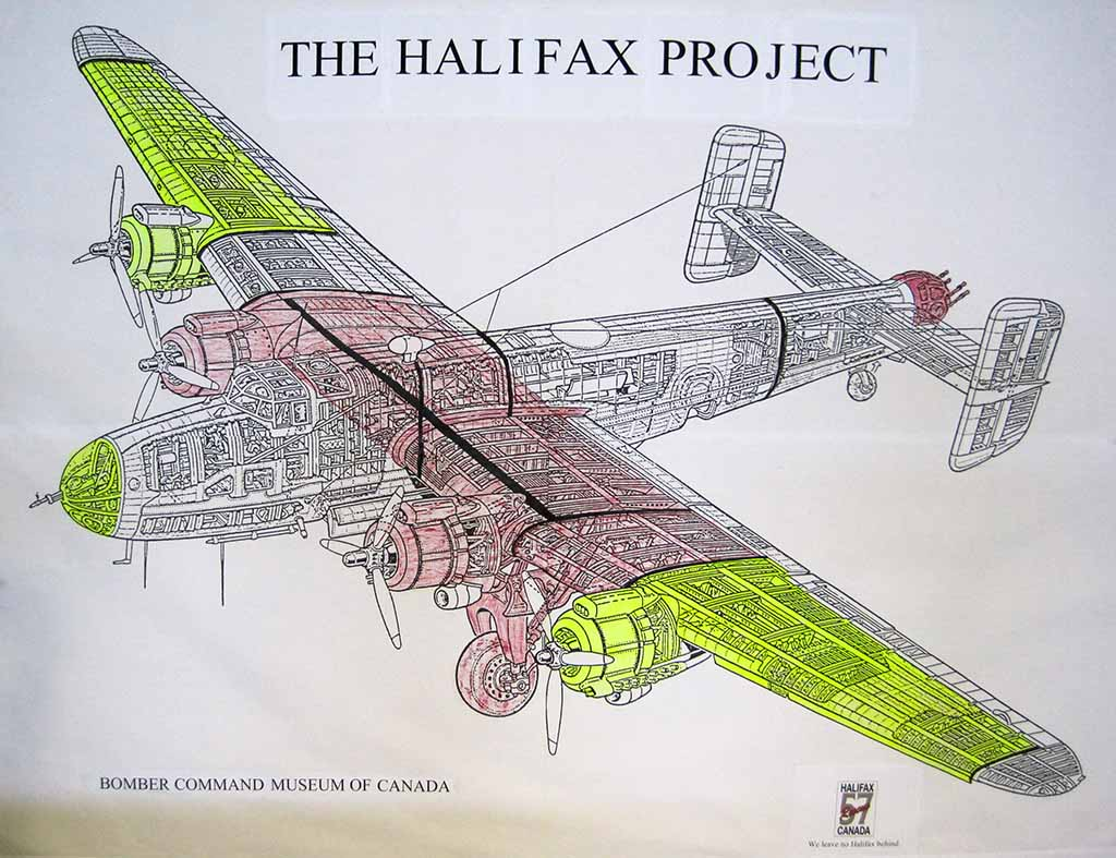 Pieces for the Halifax already located, red from Malta, yellow from elsewhere. (Image Credit: Halifax 57 Rescue (Canada))