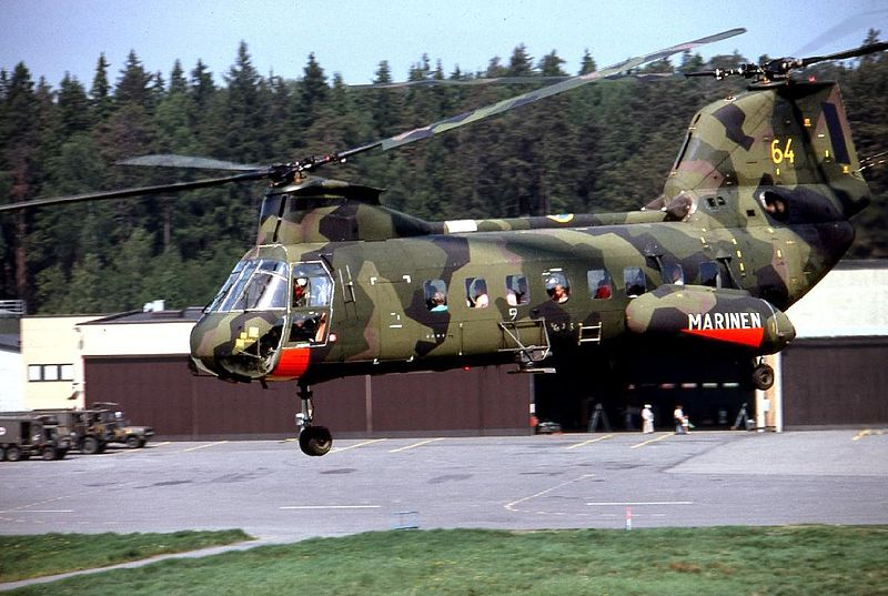 Vertol 107 in military garb (photo credit: Wikimedia Commons)