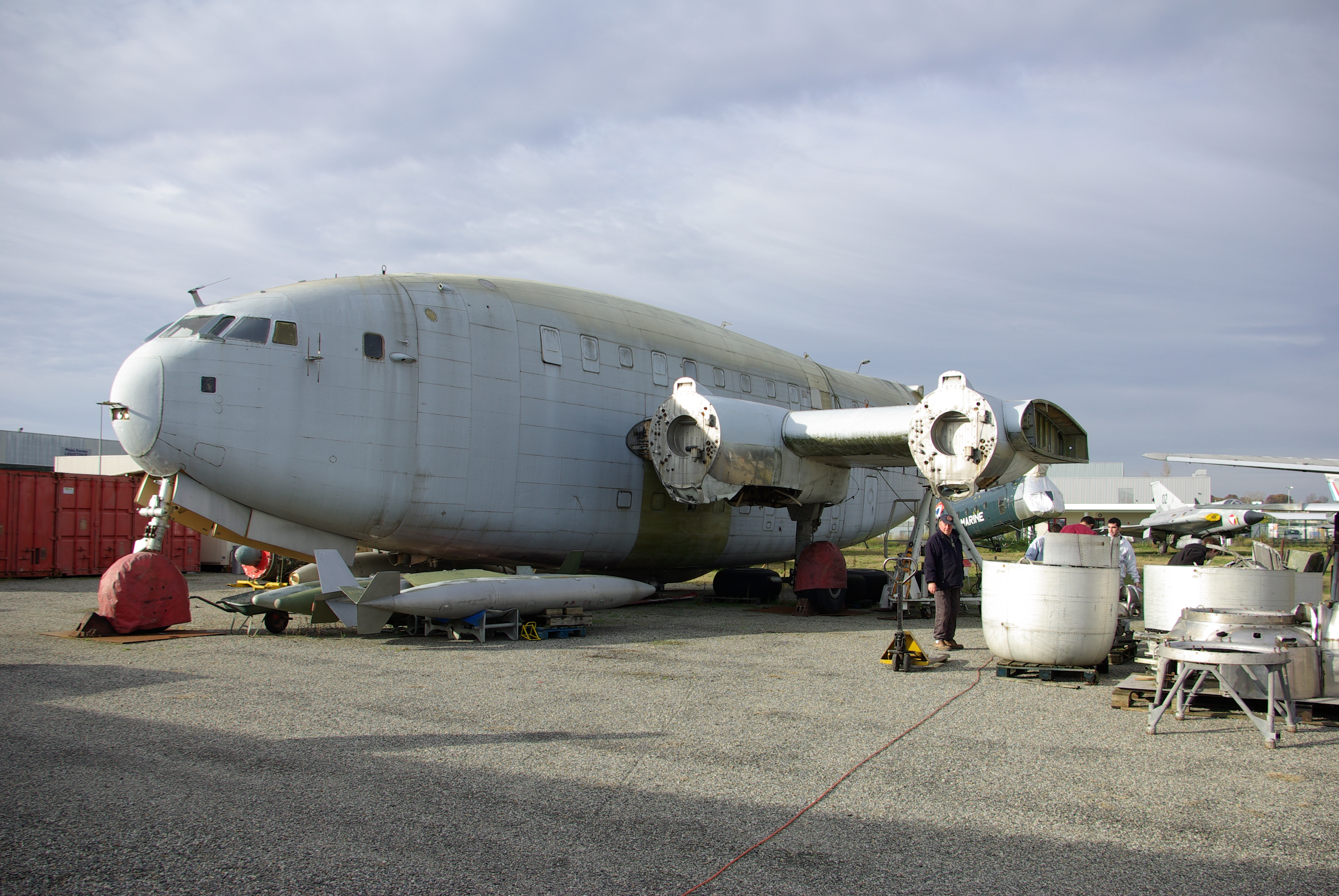 The current state of the restoration of the Breguet 765 (Photo Credit: Wikimedia Commons)