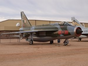 English Electric F.53 Lightning will be receiving visitors in its cockpit. (Photo credit: Pima Air and Space Museum)