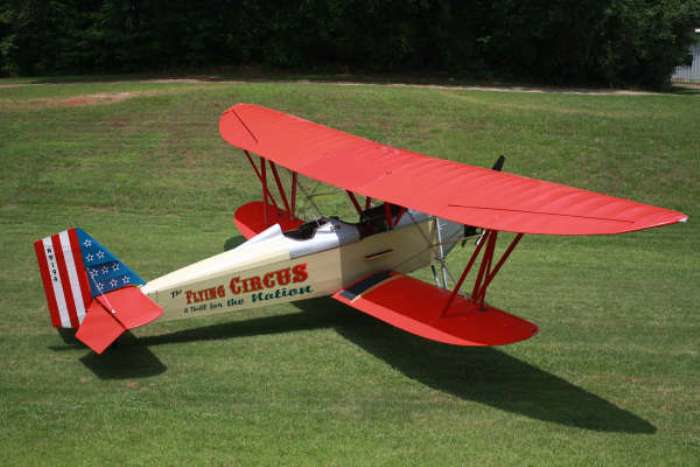 Olivers Flying Circus, a 1929 New Standard D-25 Biplane now taking on passengers at Sun 'N Fun.