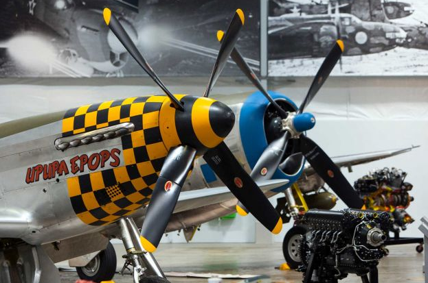 P-51 Mustang literally eclipses the plane it figuratively eclipsed, the Republic P-47 Thunderbolt