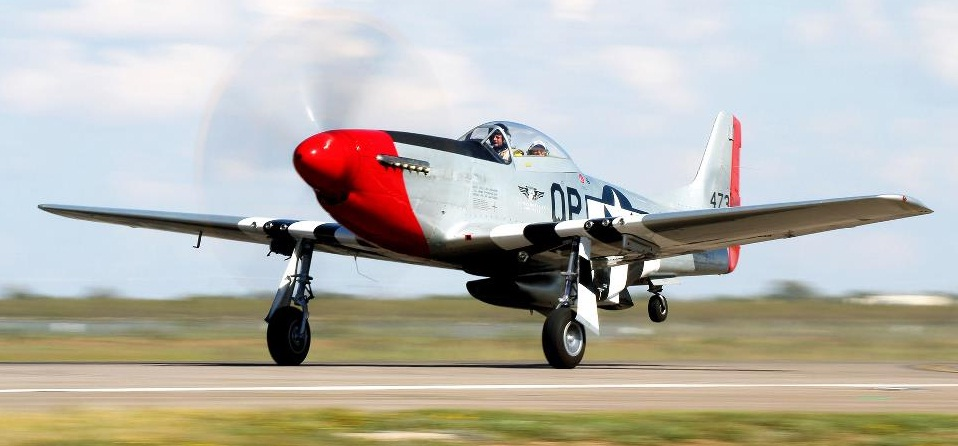 """Take to the air in the CAF Dixie Wing's P-51D Mustang """"Red Nose""""  (Image Credit: CAF Dixie Wing)"""