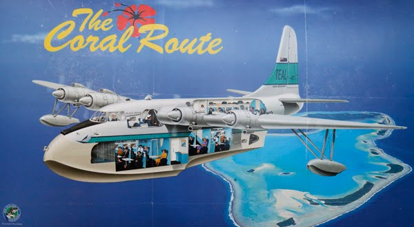 "Period advertising for TEAL's Solent service of ""The Coral Route"""